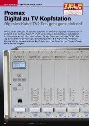 Promax Digital zu TV Kopfstation - TELE-satellite International ...