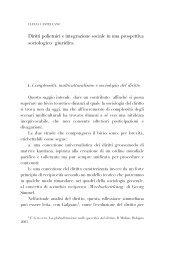 Diritti polietnici e integrazione sociale in una prospettiva sociologico ...