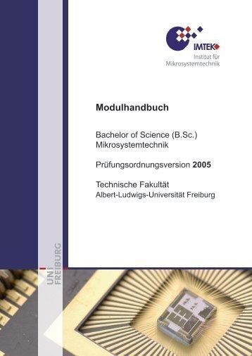 Modulhandbuch - Technische Fakultät - Universität Freiburg