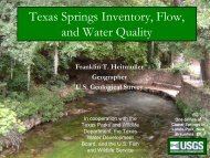 Texas Springs Inventory, Flow, and Water Quality