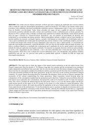 desenvolvimento sustentável e revolução verde - Revista Economia ...