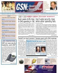 FIRST LOOK - Government Security News