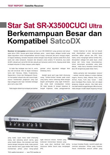 Star Sat SR-X3500CUCI Ultra - TELE-satellite International Magazine