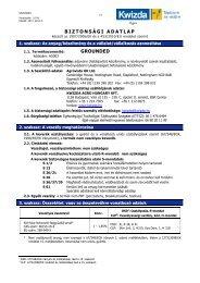 Biztonságtechnikai adatlap (Grounded) - Kwizda