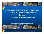 Paparan Materi Kebijakan Tentang Perizinan Kursus Online