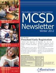Winter 2012 - Marshalltown Community School District