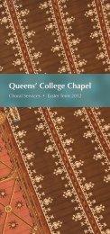 Easter 2012 - College Choir