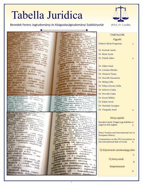 2012/05. szám - PTE Egyetemi Könyvtár - Pécsi Tudományegyetem