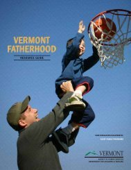 Vermont Fatherhood Resource Guide - Department for Children and ...
