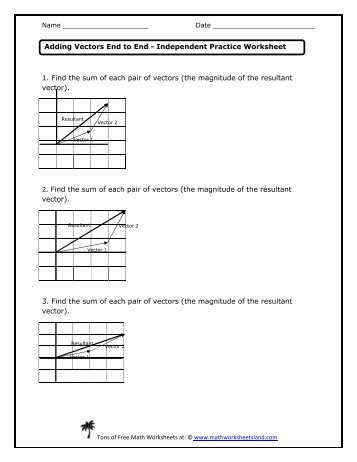 Worksheet one answer key vector review and electrostatics adding vectors end to end independent practice worksheet math ibookread ePUb
