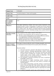 HTM1B05 - School of Hotel & Tourism Management - The Hong ...