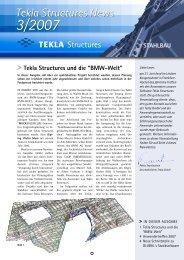 Tekla Structures News 3/2007 STAhlBAU