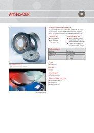 ARTIFEX - Polierscheiben Produktgruppe CER