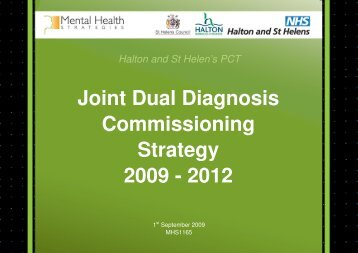 Joint Dual Diagnosis Strategy - Meetings, agendas and minutes
