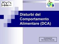 Disturbi del Comportamento Alimentare (DCA),