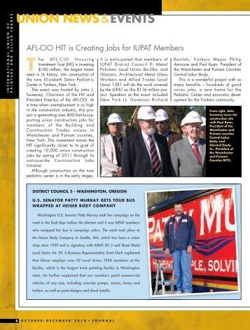 AFL-CIO HIT is Creating Jobs for IUPAT Members