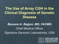 The Use of Array CGH in the Clinical Diagnosis of Genetic Disease