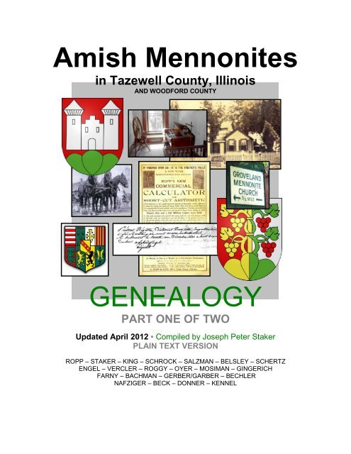 Amish Mennonites in - Tazewell County Genealogical