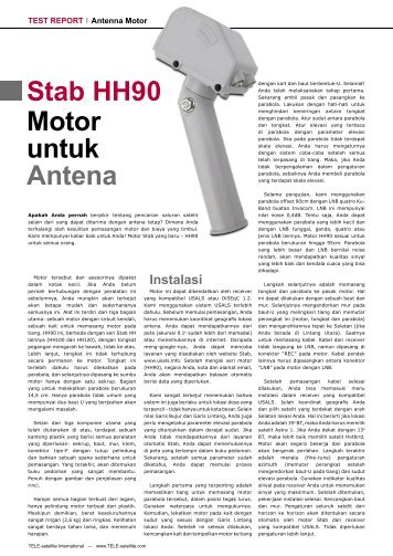 Stab HH90 Motor untuk Antena  - TELE-satellite International Magazine