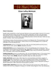 Our Family History - Elmer LeRoy McIntosh - USGenNet