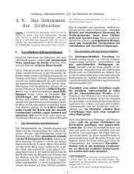 § 9. Das Sakrament der Ordination - Theologie-Skripten