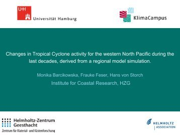 Changes in Tropical Cyclone activity for the western North Pacific ...