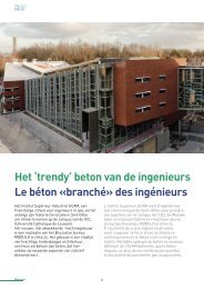 Het 'trendy' beton van de ingenieurs Le béton «branché» des ... - Febe