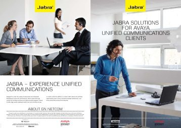 Jabra SoLUtions For aVaYa UnifiEd CommUnications CLiEnts
