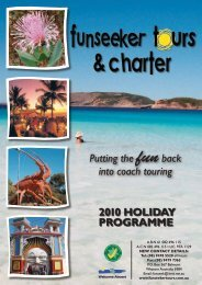 2010 Holiday programme Putting the funback into coach touring