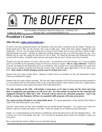 Buffer -July 2004 - Final - with 9 pages - Buckeye United Fly Fishers