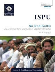 No ShortcutS: - Institute for Social Policy and Understanding