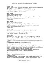 Publications by Sydney R Coleman Updated June 2013
