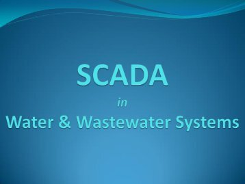 SCADA for Water & Wastewater - Ohiowater.org