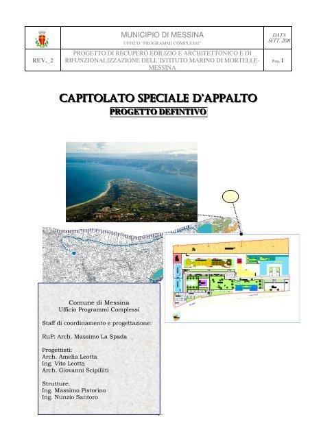 Capitolato speciale d'appalto - Comune di Messina
