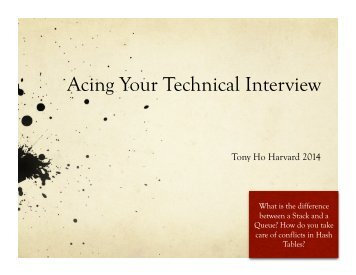 Acing Your Technical Interview