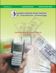 Mobile Banking For Inclusive Growth - Punjab National Bank ...