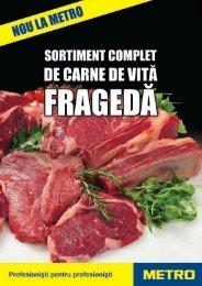 Sortiment complet de carne de vita maturata