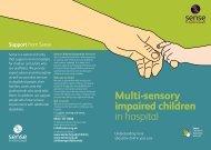 Multi-sensory impaired children in hospital - Sense