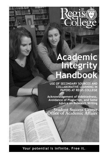 Academic Integrity Handbook - Regis College