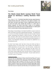 download press release - The Westin Grand Berlin Hotel