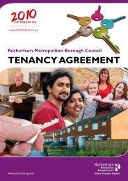 TENANCY AGREEMENT - Rotherham Metropolitan Borough Council
