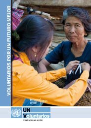 El informe anual 2011 del programa VNU - United Nations Volunteers