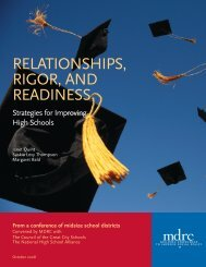 Relationships, Rigor, and Readiness - Education Justice