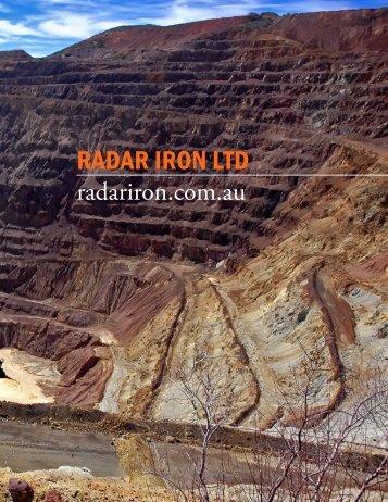 RadaR IRon ltd - The International Resource Journal