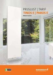 PRIJSLIJST   TARIF TINOS E   PAROS E