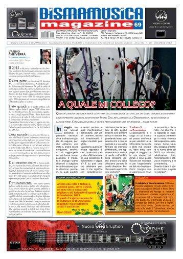 Dismamusica Magazine Dicembre 2012