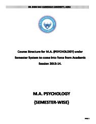 M.A. PSYCHOLOGY (SEMESTER-WISE) - Dr BR Ambedkar University