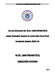 M. Sc (Mathematics) - Dr BR Ambedkar University