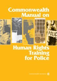 Commonwealth Manual on Human Rights Training for Police