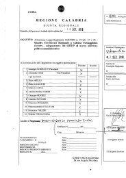 D.G.R. n° 604 del14/09/2010 - Regione Calabria - Dipartimento ...